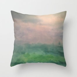 Valley of Dreams - Abstract nature Throw Pillow