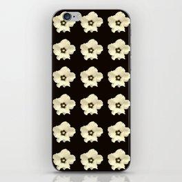 Sepia flower -bloom,blossom,petal,floral,leaves,flor,garden,nature,plant. iPhone Skin