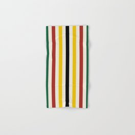 Rustic Lodge Stripes Black Yellow Red Green Hand & Bath Towel
