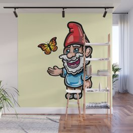 Gnome and Butterfly Wall Mural