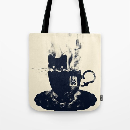 Having Tea With my Lovely Cat Tote Bag