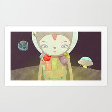 탐사 TO YOUR HEART TO THE MOON Art Print