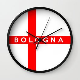 Bologna city Italy country flag name text Wall Clock