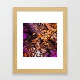 Alien Markings (gold & magenta) Framed Art Print