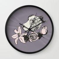 pitbull Wall Clocks featuring Majestic Pitbull by Carrillo Art Studio