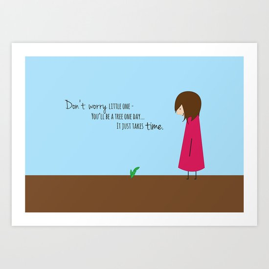 Don't Worry Little One Art Print