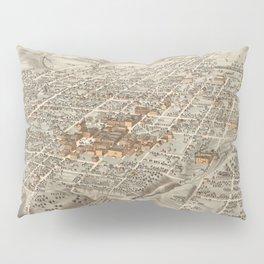 Vintage Pictorial Map of Decatur Illinois (1878) Pillow Sham
