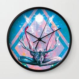 Yoga au Cerf Wall Clock
