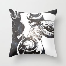Cosmic Cafe Throw Pillow