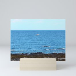 Little White Boat Mini Art Print