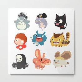 all caracter studio ghibli Metal Print