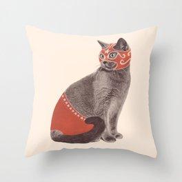 Cat Wrestler Throw Pillow