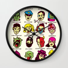 The League of Cliché Evil Super-Villains Wall Clock