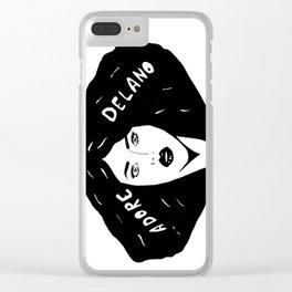 ADORE DELANO Clear iPhone Case