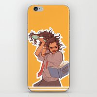 hermione iPhone & iPod Skins featuring Hermione (yellow) by batcii