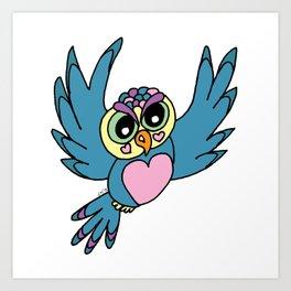 Lovely Owl Art Print