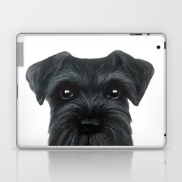 New Black Schnauzer, Dog illustration original painting print Laptop & iPad Skin
