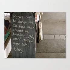 Books can be dangerous Canvas Print