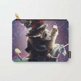 Cat Riding Chicken Turtle Panda Llama Unicorn Carry-All Pouch