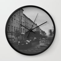 berlin Wall Clocks featuring Berlin by Jane Lacey Smith