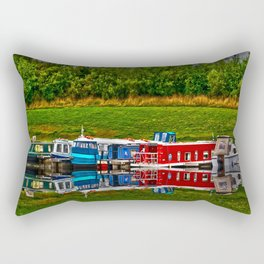 Barge Reflection Rectangular Pillow