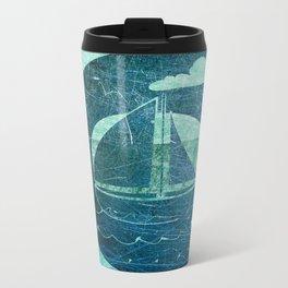 Sail Across the Sea Metal Travel Mug