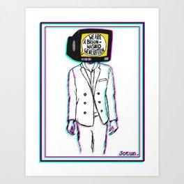 Psychedelic art - Brainwashed generation Art Print