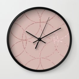 Fire Spark rose gold blush Wall Clock