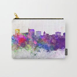 Boise skyline in watercolor background Carry-All Pouch