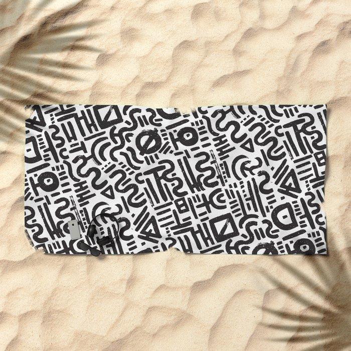 Abstract 0018 Beach Towel