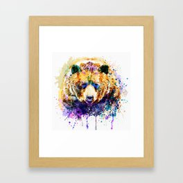 Colorful Grizzly Bear Framed Art Print
