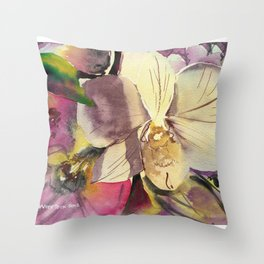 20120423 Orchid Throw Pillow