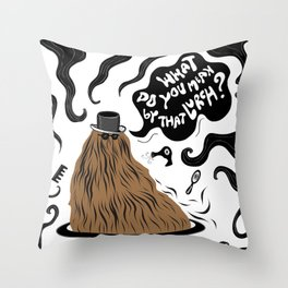 Cousin Itt (Addams Family) Throw Pillow