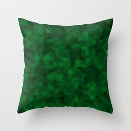 Emerald Stars Throw Pillow