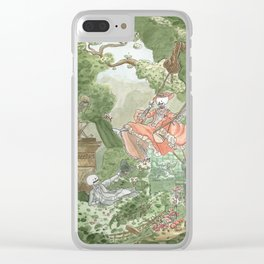 The Swing - Fragonard - Skeleton version Clear iPhone Case