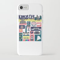 kansas city iPhone & iPod Cases featuring Kansas City by cwassmer