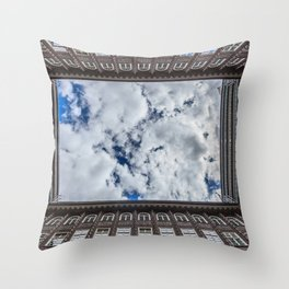Chile house skyscape Throw Pillow