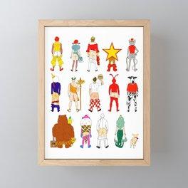 Fast Food Butts V2 Framed Mini Art Print