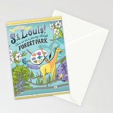 Map of Forest Park Stationery Cards