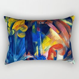 "Franz Marc ""Forest with squirrel"" Rectangular Pillow"