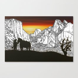 It's A Wild West Out There Canvas Print