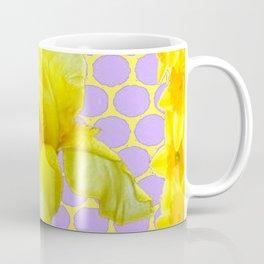 ABSTRACT YELLOW SPRING IRIS GOLDEN DAFFODILS FRAME Coffee Mug