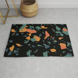 Terrazzo (green orange slate black) Rug