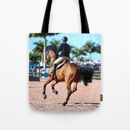 jumping in the palms Tote Bag