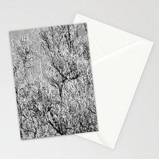B&W Ice tree Stationery Cards