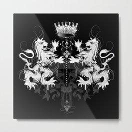 Heraldic coat of arms Metal Print