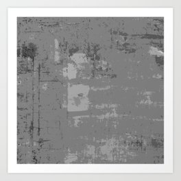 Industrial Grey Grunge Abstract Texture Concrete Pattern Art Print