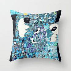 the walls must fall Throw Pillow