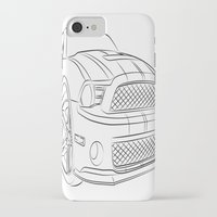 mustang iPhone & iPod Cases featuring Mustang by cchelle135