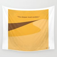 dune Wall Tapestries featuring No251 My DUNE minimal movie poster by Chungkong